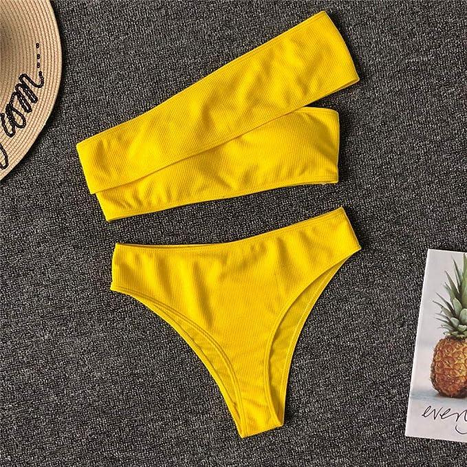 Señoras Sexy Solo Bandolera Personalidad Elegante Bikini Ropa Interior Playa Interior natación Flexiones Vacaciones de San Valentín riou: Amazon.es: Ropa y ...