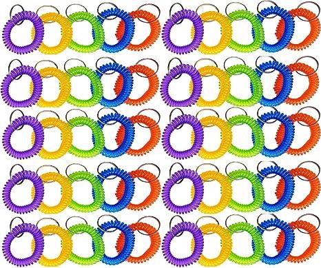 Amazon.com: Glitterymall - Llavero en espiral de plástico ...