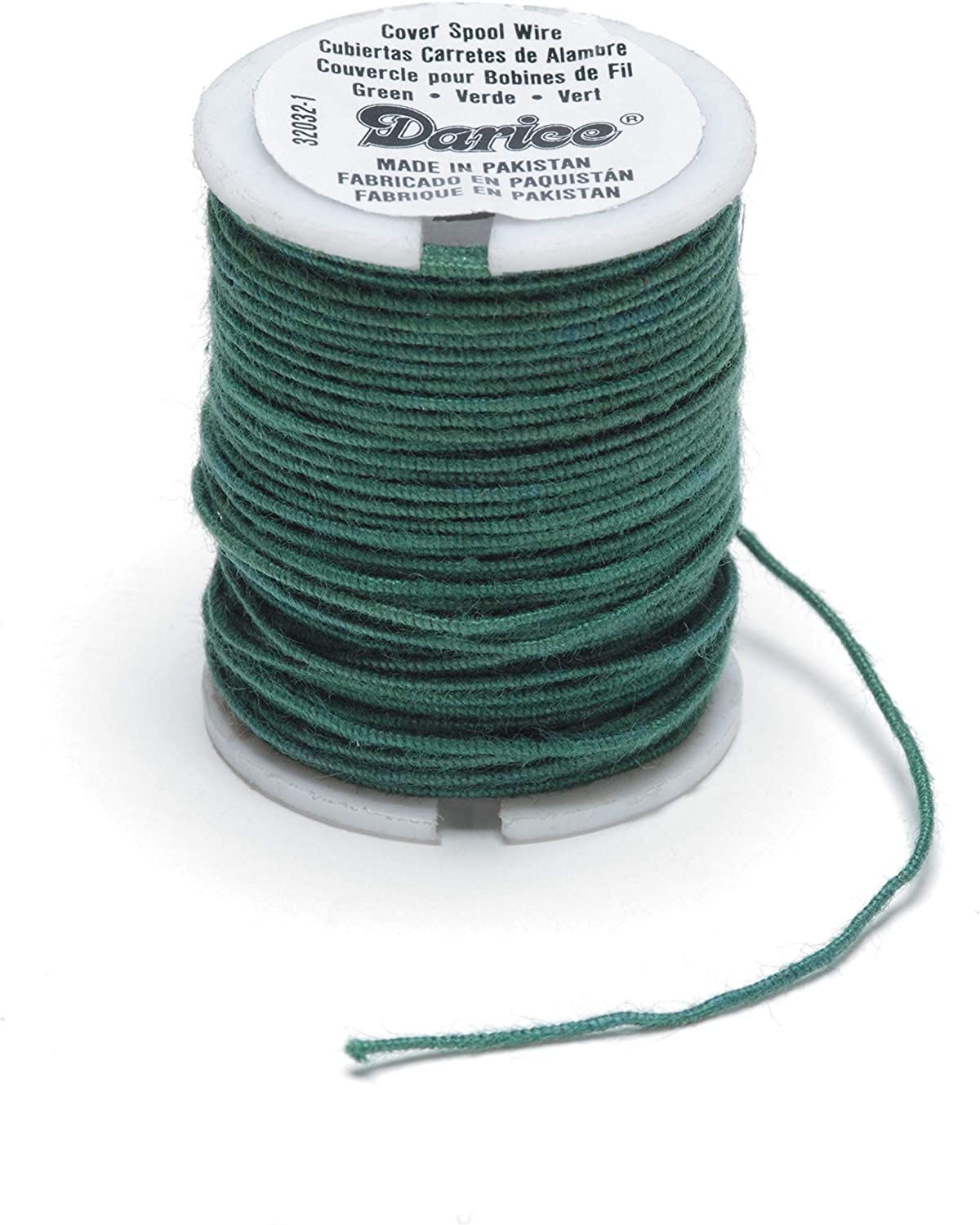 Panacea Cloth Covered Spool Wire 30ft//Pkg-White