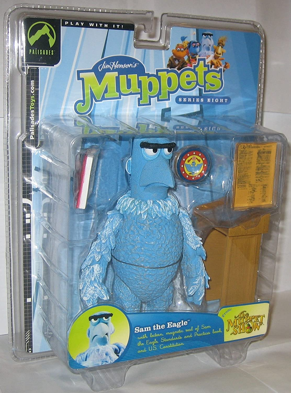 Muppets Sam the Eagle Shifty Eyed Variant Version Series 8 by Palisades