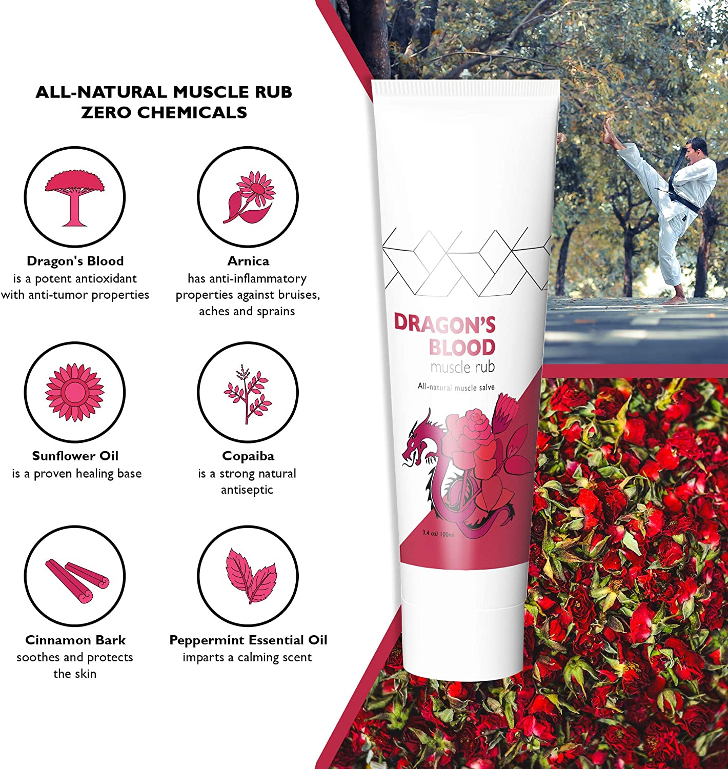 Sore Joints Monkey Movement Dragons Blood Arnica Cream: Natural Muscle Rub for Aches Arthritis Inflamed and Irritated Skin