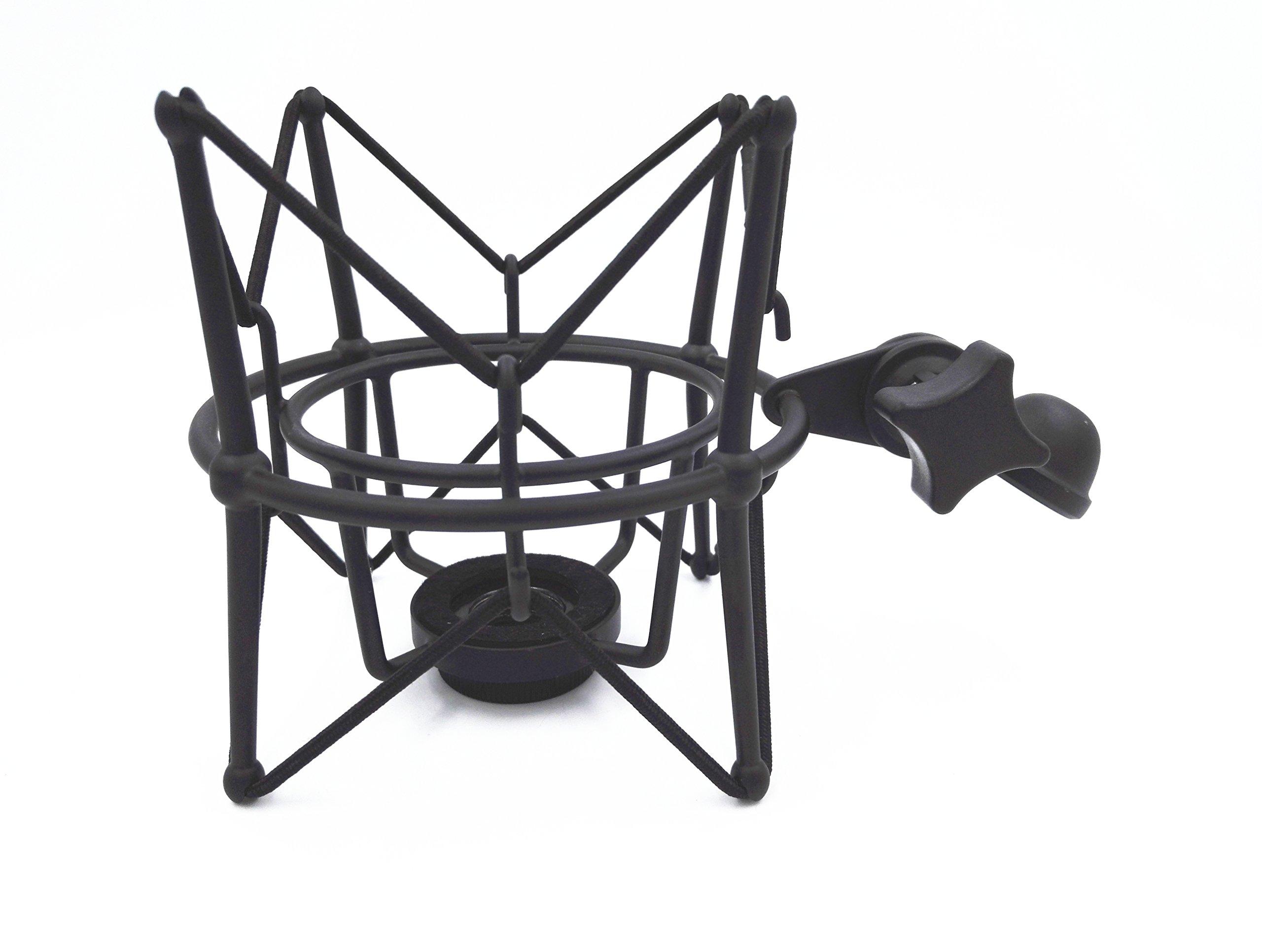 Boseen Studio Condenser Metal Microphone Spider Shock Mount Holder Clip Anti Vibration Suspension High Isolation, Ideal for Radio Broadcasting Studio, Voice-over Sound Studio and Recording(Black)