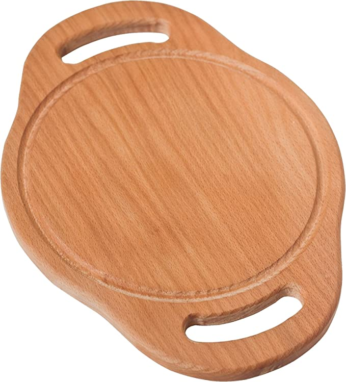 Natural shape,Free fast shipping,US Seller Unique 18 .5 Olive wood cutting/& serving  board with Groove and Dip