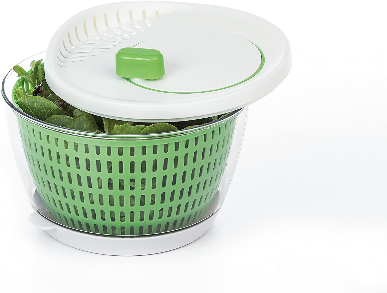 Prepworks by Progressive Flow Through Salad Spinner with Removable Drip-Catch Base 3.5 Quart