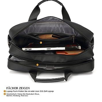 95a56ce3c5 utotebag Sacoche Sac à bandoulière Porte-documents imperméable antichoc  ordinateur portable 15,6 sacoche Business ordinateur portable Sacoche Sac à  ...