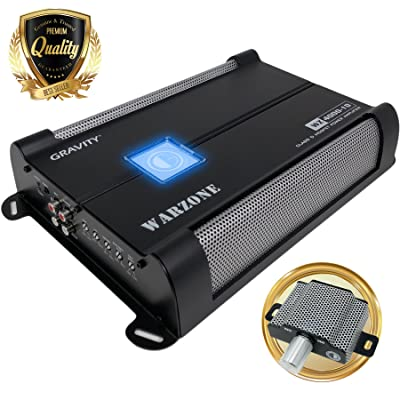 Car Amplifiers - Gravity Audio WZ4000.1D Warzone 4000W Class D Amp 1/2/4 Ohm Stable with Remote Sub Control