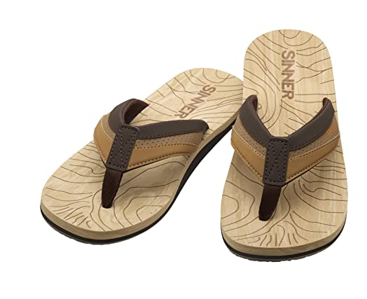 Sinner hombre adultos Jaffna piel playa Casual sandalias chanclas en marrón, 41/UK 7