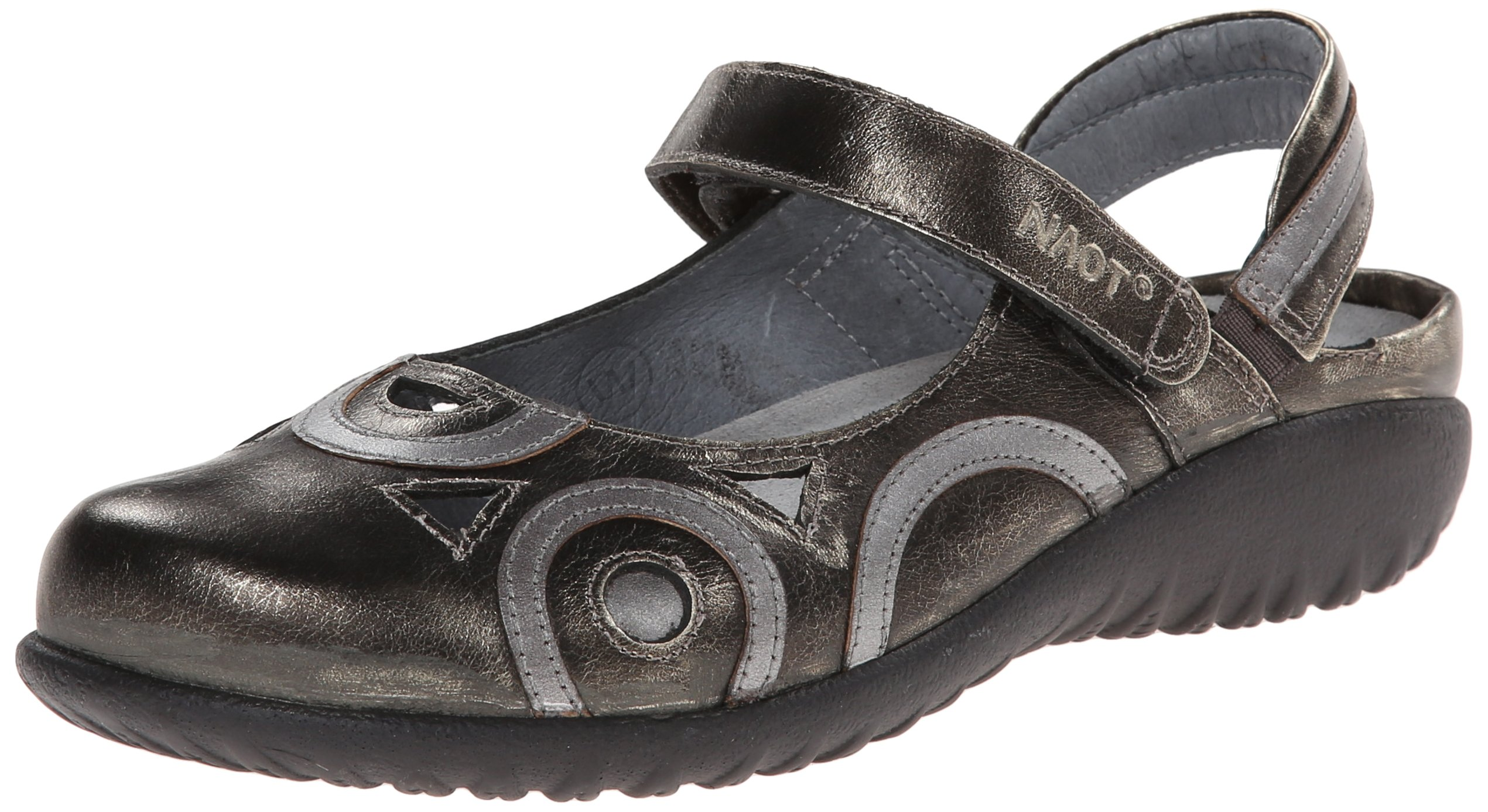 Naot Women's Rongo Wide Flat, Metal, 38 EU/7 M US