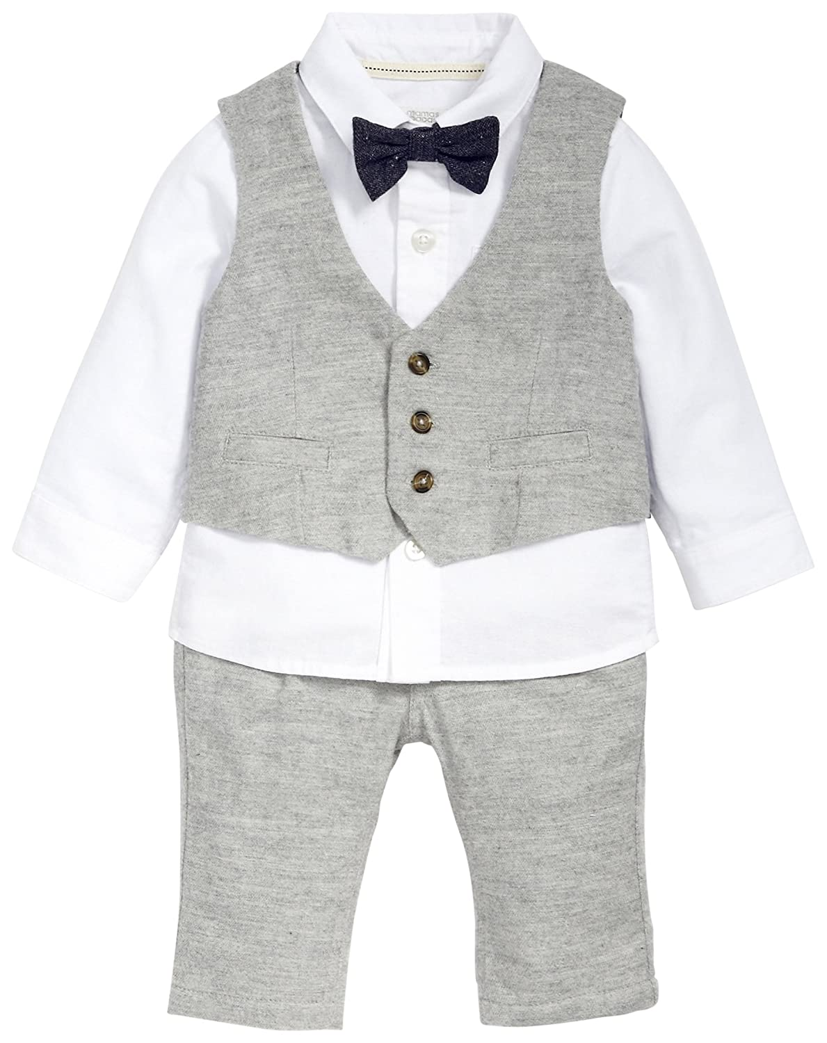 Mamas & Papas Baby-Jungen Anzug and 4 Piece Grey Tweed Suit Set