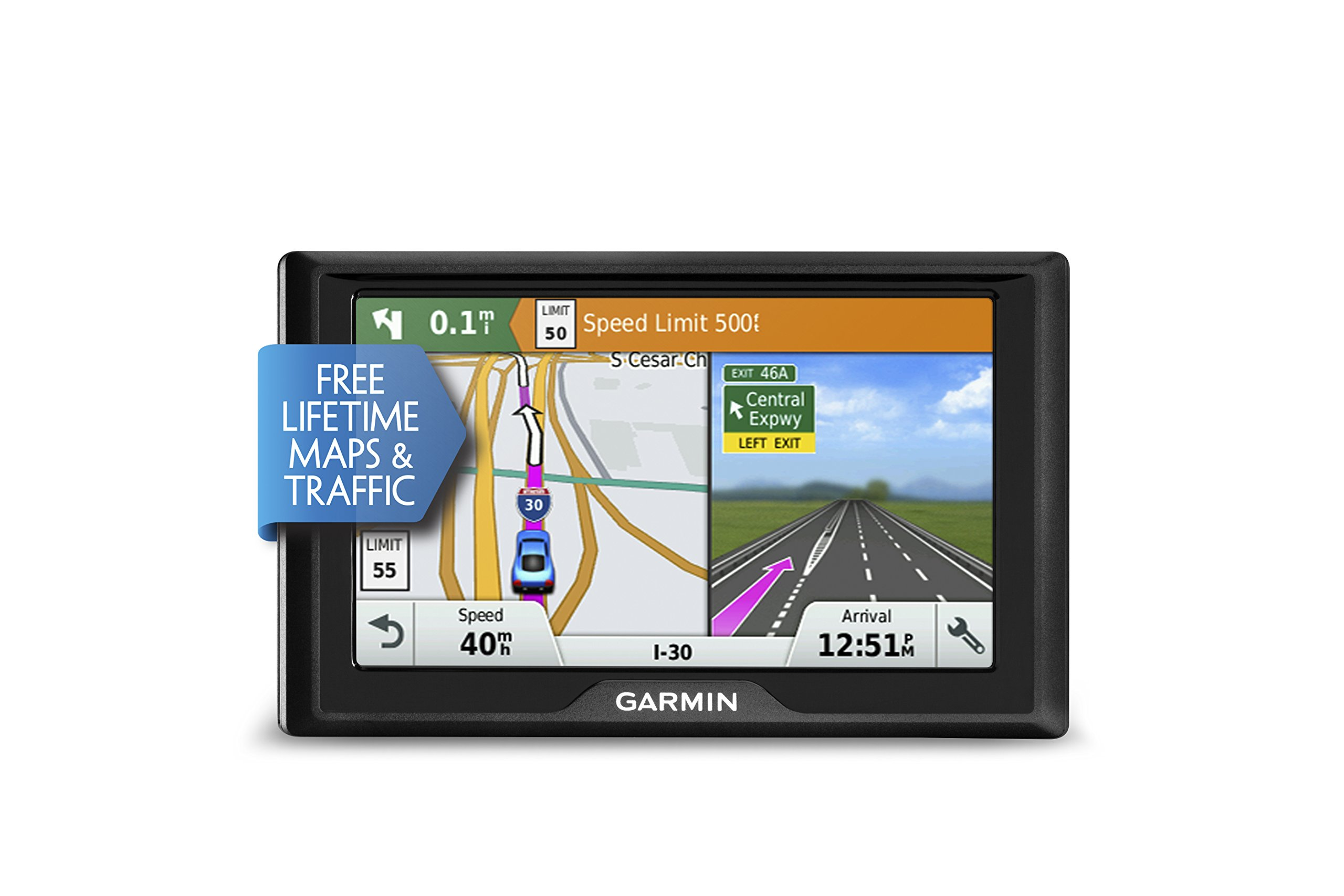 Garmin Drive 50 USA LMT GPS Navigator System with Lifetime Maps and Traffic, Driver Alerts, Direct Access, and Foursquare data by Garmin (Image #5)