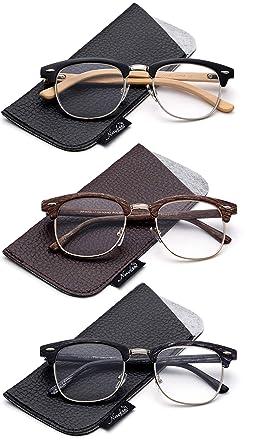 1ea2f905ac Quality Fashion Clummaster Reading Glasses for Men Retro Vintage Reading  Glasses Horn Rimmed Half Frame Reading