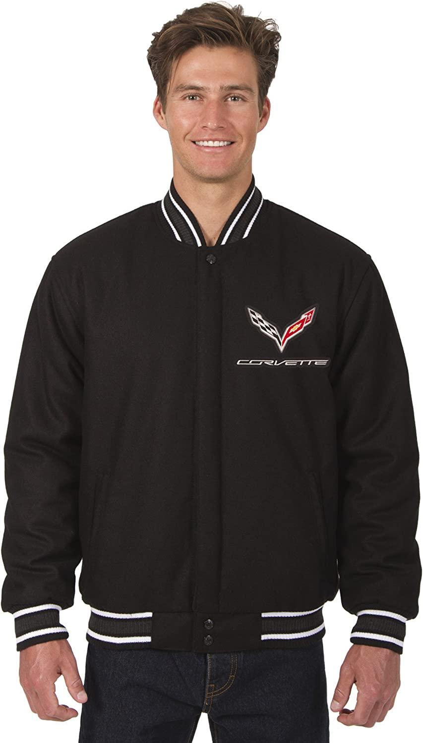 Dedication Men's Max 74% OFF Chevy Corvette All Wool Reversible with Jacket Embroidered
