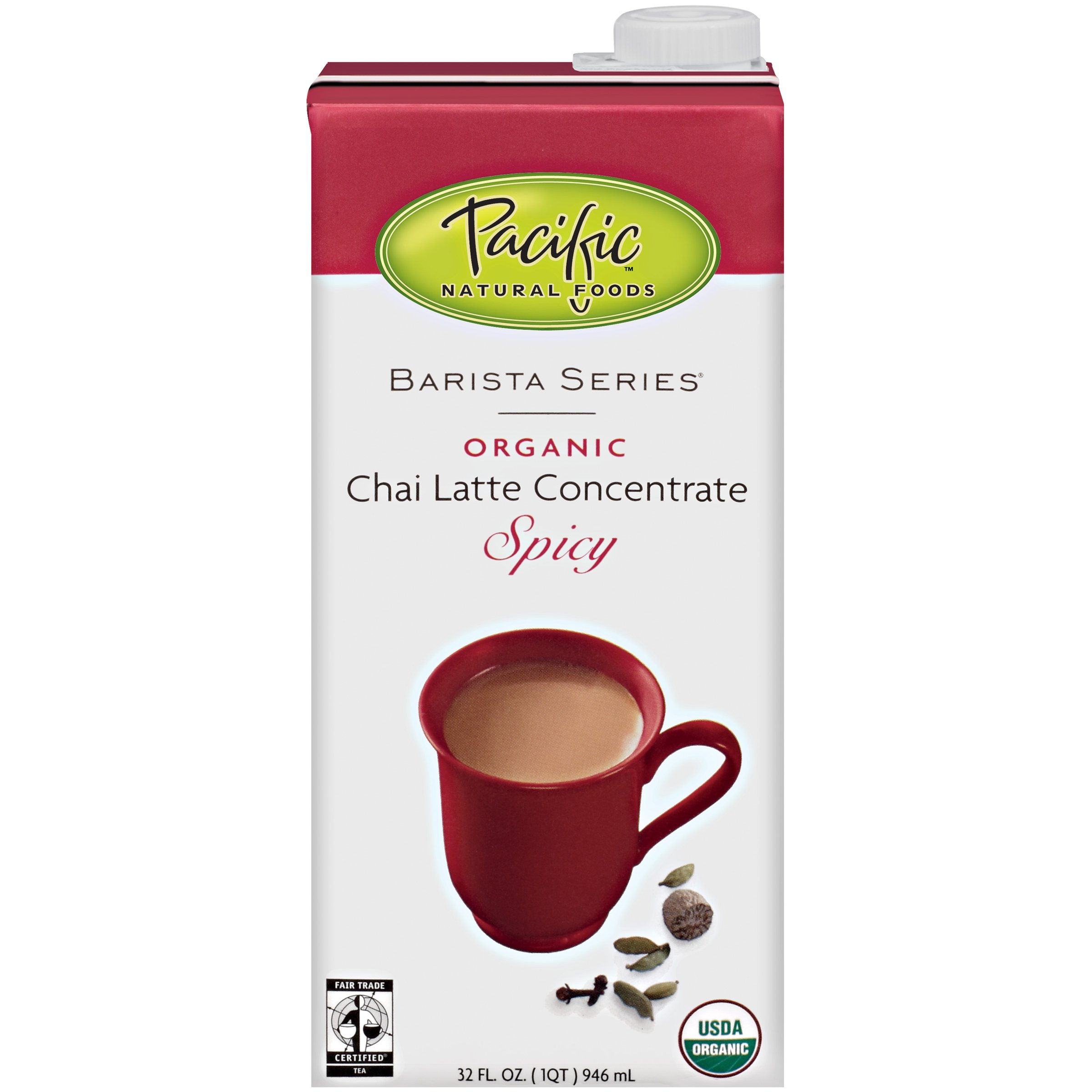 Pacific Natural Foods Organic Chai Latte Concentrate Spicy, 32-Ounce Boxes (Pack of 12) by Pacific Natural Foods