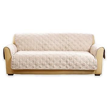 Amazon Com Sure Fit Deluxe Non Skid Waterproof Sofa Cover In Cream