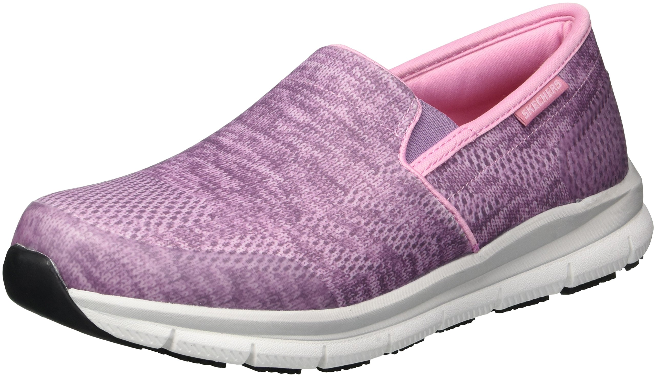 Skechers for Work Women's Comfort Flex HC Pro SR II Health Care Professional Shoe,Pink Textile,6.5 M US