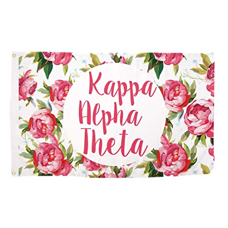 Amazon desert cactus kappa alpha theta rose sorority flag desert cactus kappa alpha theta rose sorority flag greek letter use as a banner large 3 m4hsunfo