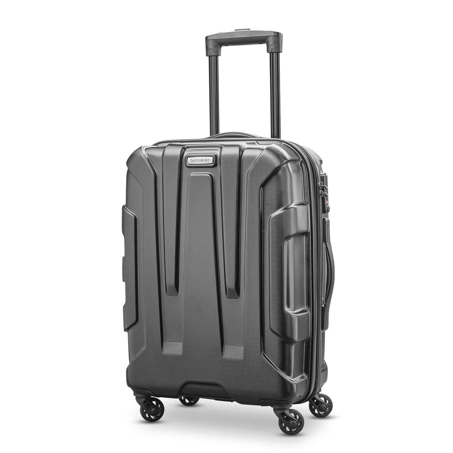 Samsonite Centric Expandable Hardside Carry On Luggage with Spinner Wheels, 20 Inch, Black