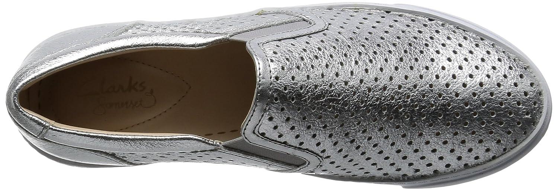 Clarks Damen Glove Puppet Slipper Leder) Silber (Silver Leder) Slipper 24b75f