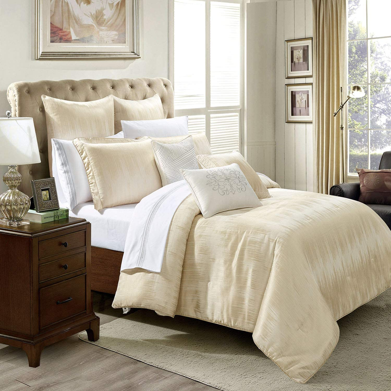 All Sizes Luxury Erika Duvet Cover Bedding Set with Pillow Cases