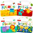 Fisher Price My First Books Set of 4 Baby Toddler Board Books (Bedtime Playtime Friendship and Peek-a-Boo!)