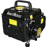 KRAFTHERTZ® KH-1000 Generador de gasolina, versión mejorada, portátil, 650 W de potencia continua, máx. 720 Watt 1,2 kW, 63 cm³ de capacidad, depósito de 4,2 l, toma de corriente de 230 V