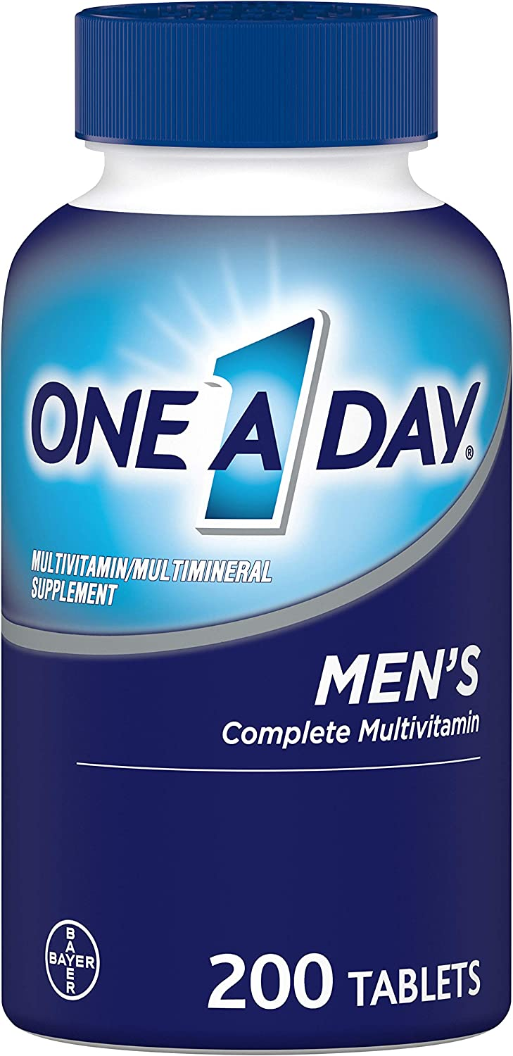 One A Day Men's Multivitamin, Supplement with Vitamins A, C, E, B1, B2, B6, B12, Calcium and Vitamin D, 200 count (Packaging May Vary)
