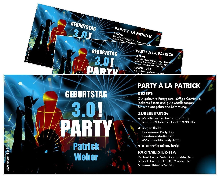 Unser-Festtag Einladungskarte Clubparty für Männer Geburtstagseinladungen - individuell mit Ihren Wunschdaten - 100 Karten B07D31FCLZ   Die Qualität Und Die Verbraucher Zunächst    Wir haben von unseren Kunden Lob erhalten.    Neuartiges Desig