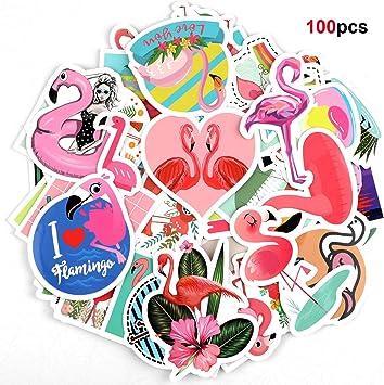 Howaf 100 Tropical Flamenco Graffiti Vinilo Pegatinas Stickers ...