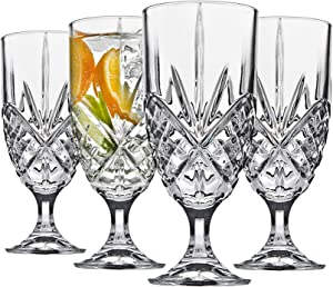 Godinger Iced Tea Beverage Glasses, Shatterproof and Reusable Acrylic - Dublin Collection, Set of 4