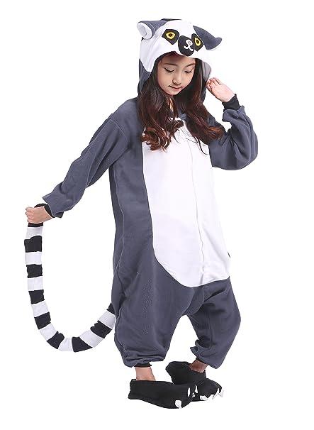 Samgu Niños Monkey Animal Pijamas Kigurumi Onesie Cosplay Disfraz Ropa de Dormir