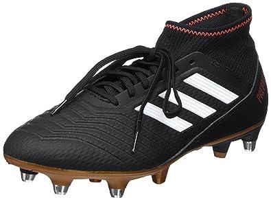 adidas Predator 18.3 AG, Chaussures de Football Homme, Noir (Core Black/FTWR White/Solar Red), 42 2/3 EU
