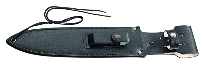 Herbertz Uni Cuchillo de Supervivencia bruñido. Longitud Total de la Hoja: 39.4 cm. Cuchillo Gris, M.