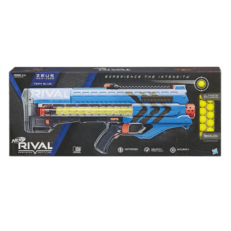 Amazoncom Nerf Rival Zeus Mxv 1200 Blaster Blue Toys Games