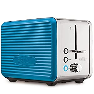 BELLA (14095) Linea Collection 2 Slice Toaster with Extra Wide Slot, Teal