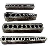 Big Gator Tools BGT V-4 Pack V-Drill Guide SAE + Number Hole Sizes 4pc Kit