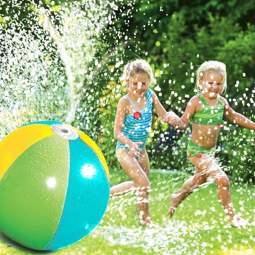 Splash und Spray Ball, Sommer Kinder Outdoor Wasserspiel Wasser Jet Ball Beach Ball Rasen Spiel 75cm flower205