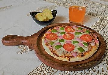 Eoan International  trade; Wooden Pizaa Platter Standard Size Dinnerware Sets