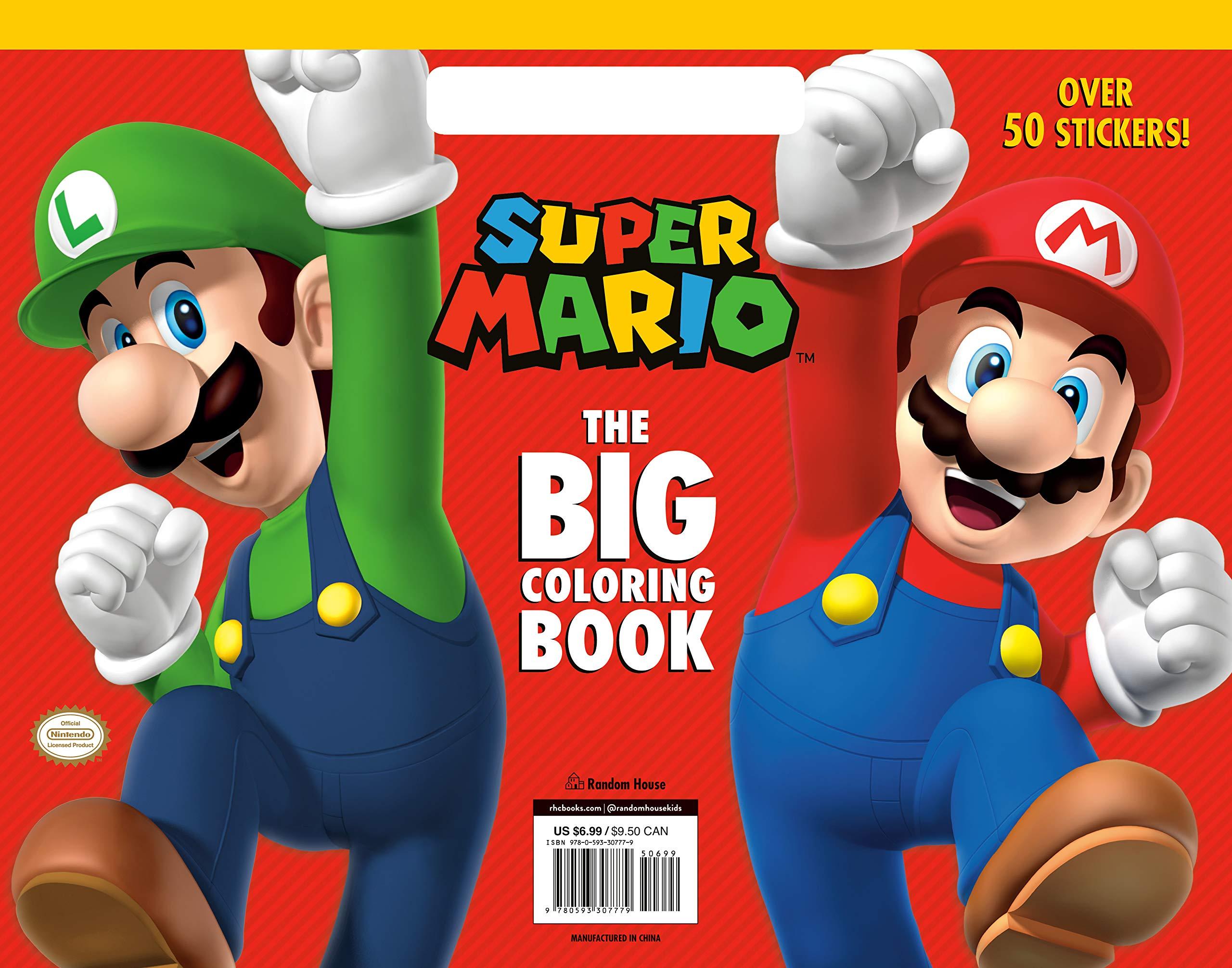 Super Mario The Big Coloring Book Nintendo Random House Random House 9780593307779 Amazon Com Books