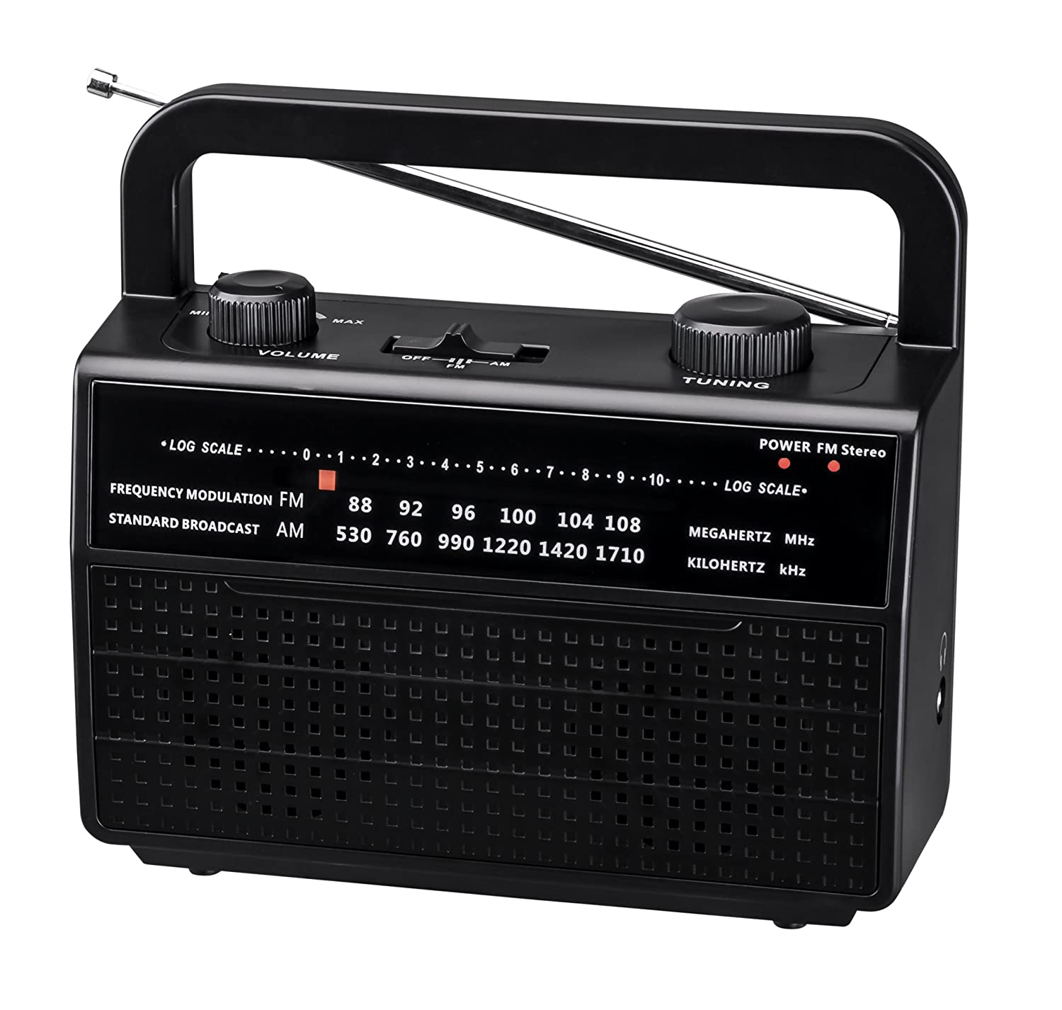 PR-157 AM/FM 2 Band Portable Radio AC Operated or Operated by Dry Battery (D Size x 4pcs, Battery not Included), Black Tak Tung Industries Ltd.