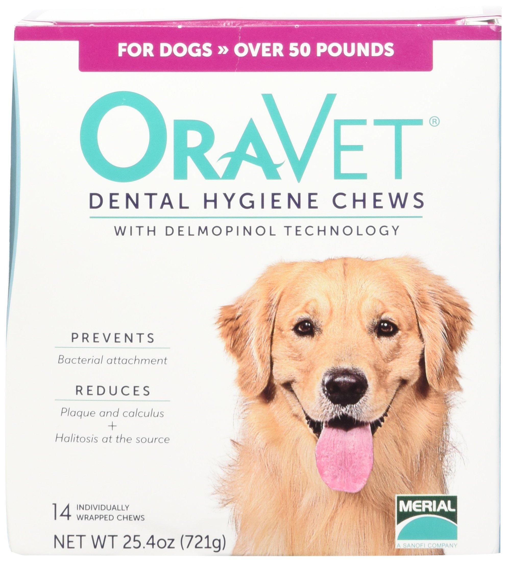 Merial 14 Count Oravet Dental Hygiene Chew Large Dogs