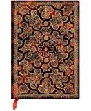 PaperBlanks Le Gascon Mystique Hard Cover Single Ruled Diary Notebook - 10 cm x 14 cm, 240 Pages (Maroon and Gold)