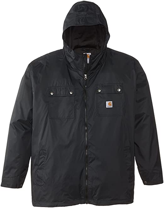 ac07917f2 Carhartt Men's Big & Tall Rockford Rain Defender Jacket,Black,XXXX ...