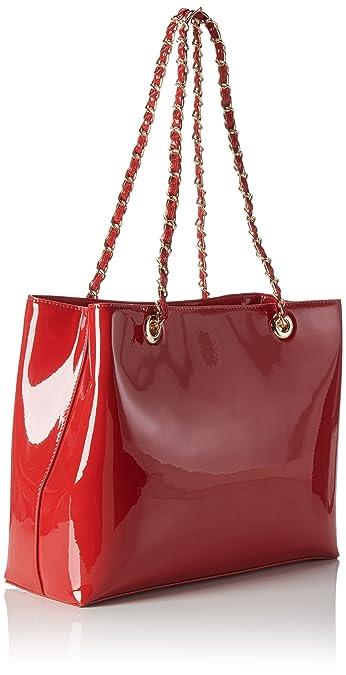 Mario Valentino Mujer VBS1GJ01V Bolso de hombro Rojo Size: 12.0x26.0x36.0 cm (B x H x T): Amazon.es: Zapatos y complementos