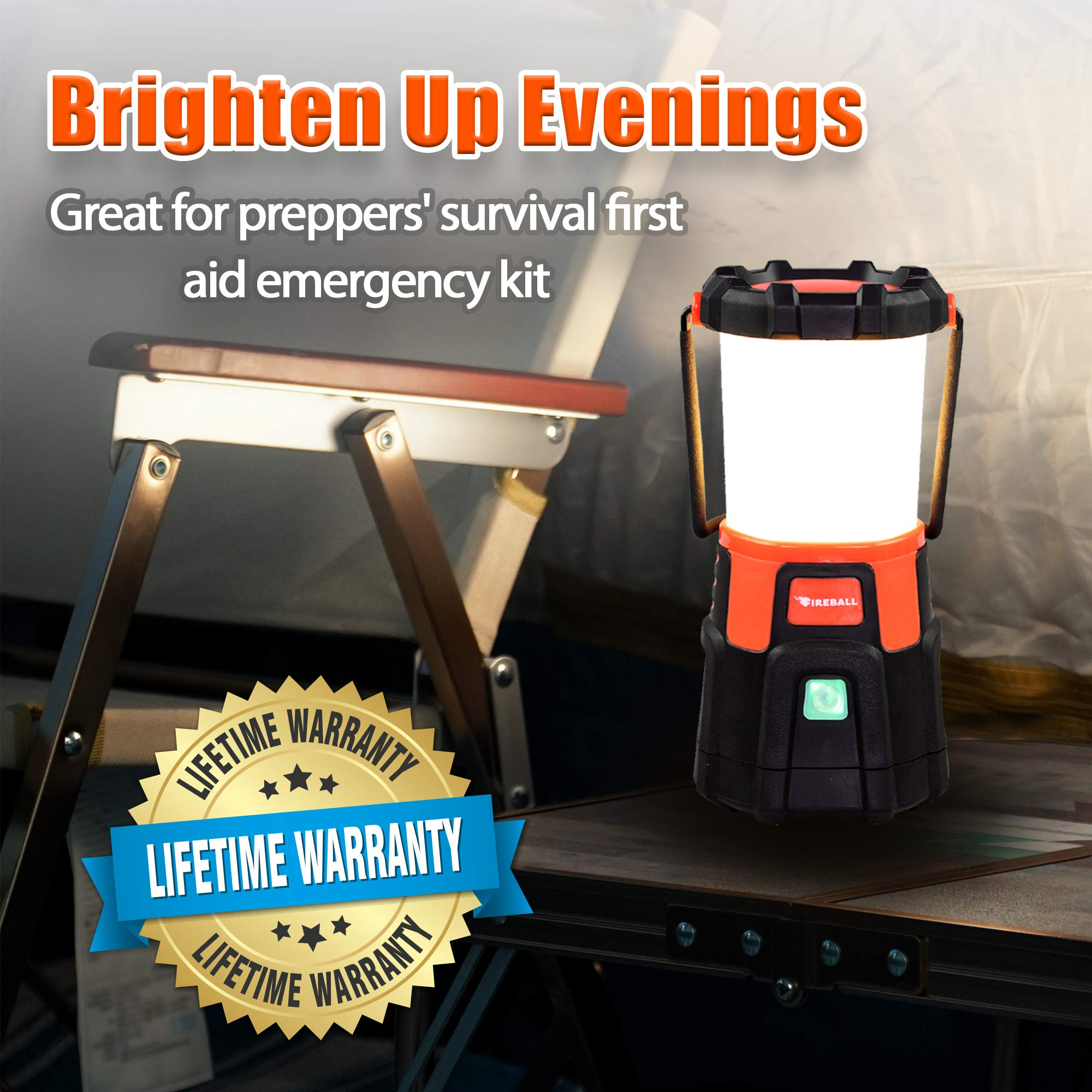 Blazin' Fireball | Brightest Lanterns Battery Powered | LED Hurricane Lantern | Emergency, Storm, Camping Torch | Battery Operated Lights | 1000 Lumen Lantern by Blazin' Bison (Image #7)