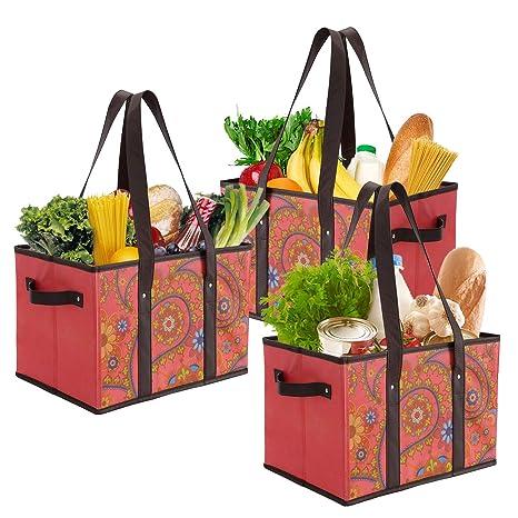 Amazon.com: Foraineam - Bolsas reutilizables para la compra ...