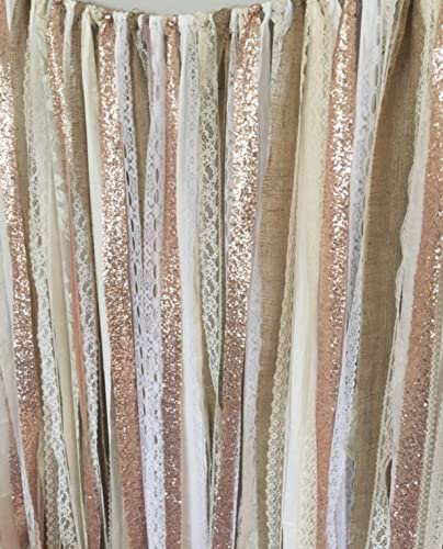 Amazon Rose Gold Sequin Garland Backdrop 5x6