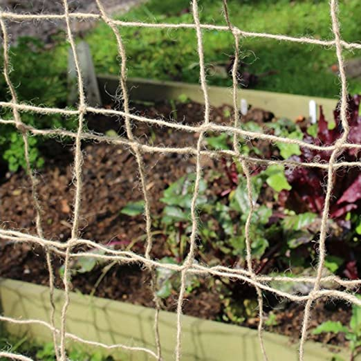 Tech-Garden 2 m x 5 m Plant Support Netting 100/% Eco Friendly Biodegradable /& Compostable Natural Garden Jute Trellis Twine