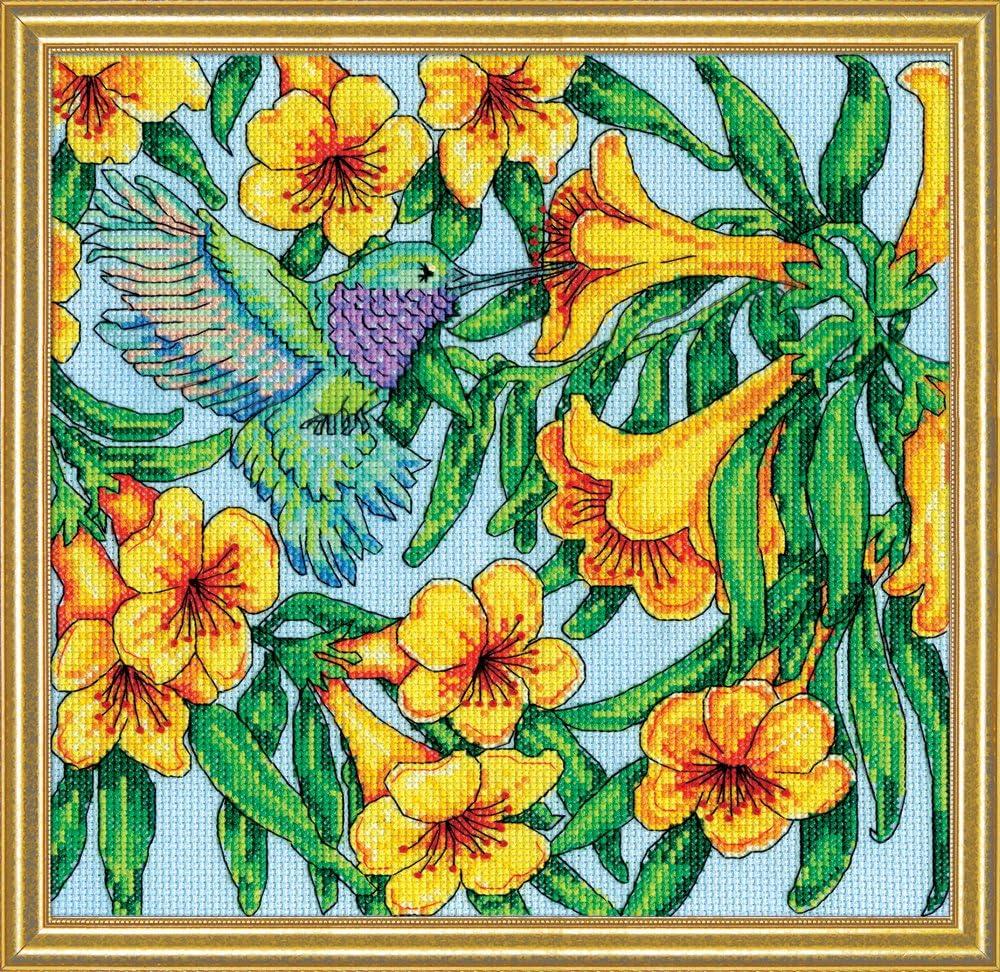 Multicolore Design Works Colibri Kit de Point de Croix 25.5/x 25.5/x 0.1/cm Coton