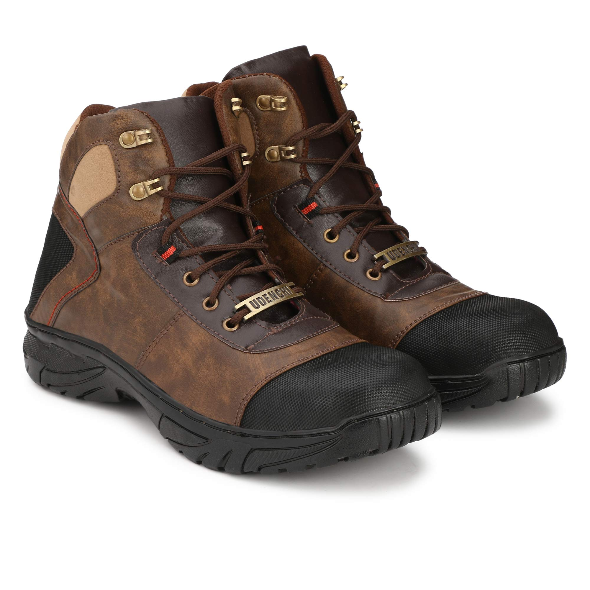 Udenchi UD765BROWN7 Steel Toe Safety Shoe for Men | Industrial Safety Boot for Man | Size-7 UK, Brown (B07T7JLHTQ) Amazon Price History, Amazon Price Tracker