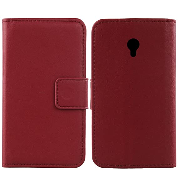 "Gukas Design Genuine Leather Case For Vodafone Smart Turbo 7 VFD500 5"" Wallet Premium Flip"